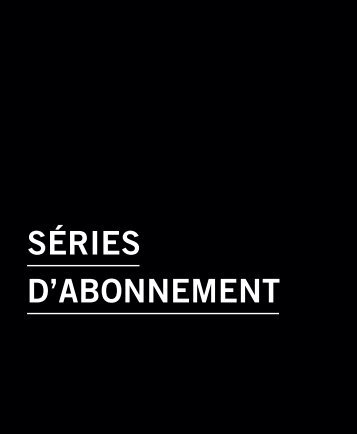 SéRIES D'ABONNEMENT - Salle Pleyel