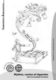 mythes, contes et légendes - Salle Pleyel