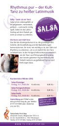 Tanzschule First Step – Tanzkurse Winter 2012