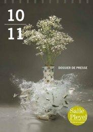 DOSSIER DE PRESSE - Salle Pleyel