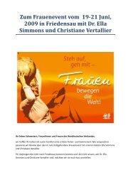 Sonderblatt zum Frauenevent - Christlichefrauen.net