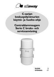 Radiokäynnisteisen C-sarjan keskusyksikön käyttö- ja ... - Allaway Oy