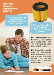 FINE FILTER FEINFILTER HIENOSUODATIN FINFILTER