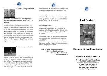 Heilfasten: Hausputz für den Organismus! - Gemeinschaftspraxis ...