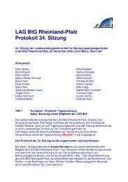 LAG BtG Rheinland-Pfalz, Protokoll 34. Sitzung der ... - SKM