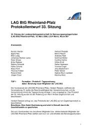 LAG BtG Rheinland-Pfalz, Protokoll 33. Sitzung der ... - SKM