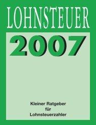 Lohnsteuerfibel 2007 - rdts AG - Multi-CMS - herzlich willkommen