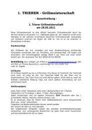 1. TRIERER - Grillmeisterschaft - Thomas Bauzentrum