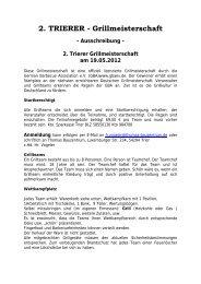 2. TRIERER - Grillmeisterschaft - Thomas Bauzentrum