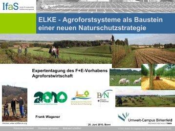 ELKE - Strategie und Management der Landschaftsentwicklung