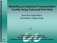 Modelling an Industrial Transportation Facility Using ... - TU Ilmenau
