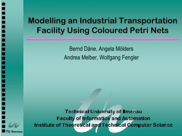 Modelling an Industrial Transportation Facility Using ... - TU Ilmenau