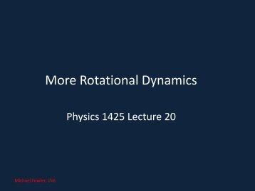 More Rotational Dynamics - Galileo and Einstein