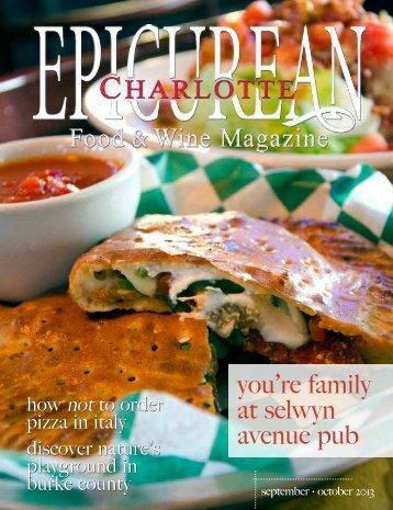 September•October 2013 - Epicurean Charlotte Food & Wine ...