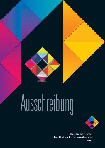 Download als PDF 2.3 MB - Deutschen Preis für Onlinekommunikation