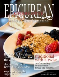 traditional with a twist - Epicurean Charlotte Food & Wine Magazine