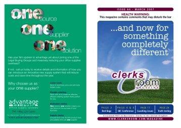 CR Issue 64 MAR 07 - Clerksroom