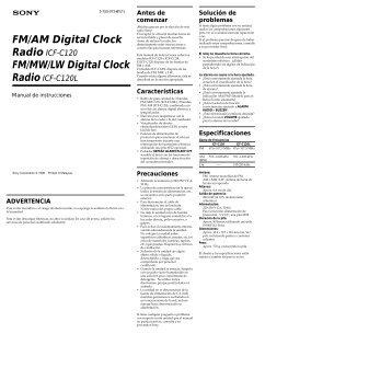 FM/AM Digital Clock FM/MW/LW Digital Clock