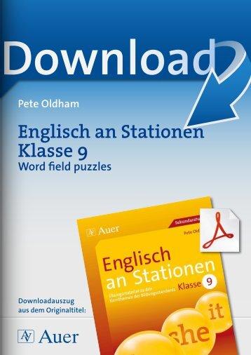 Englisch an Stationen Klasse 9