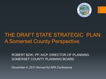 THE STATE STRATEGIC PLAN: A Somerset County Perspective