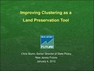 Cluster Presentation - NJ Farm Bureau 1-4-2012 - New Jersey Future
