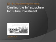 Creating the Infrastructure for Future Investment - New Jersey Future