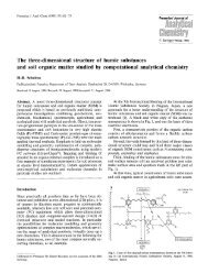 The three-dimensional structure of humic substances and soil ...