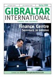 Spring 2008 - Gibraltar International Finance Magazine