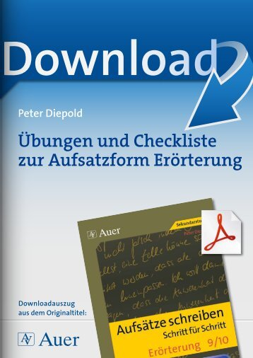 Übungen und Checkliste zur Aufsatzform Erörterung
