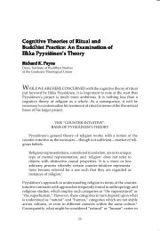 Cognitive Theories of Ritual and Buddhist Practice: An Examination ...