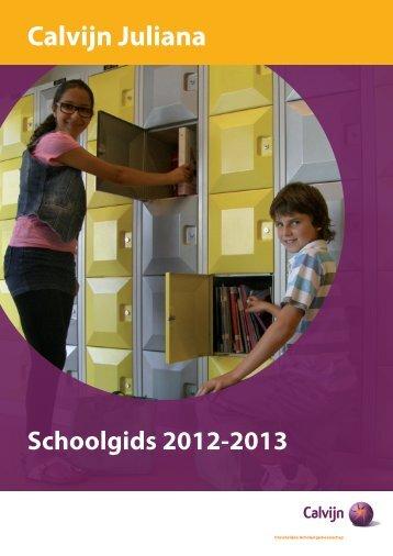 Schoolgids JU 12-13 - CSG Calvijn