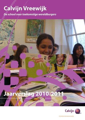 Jaarverslag 2010-2011 Calvijn Vreewijk - CSG Calvijn