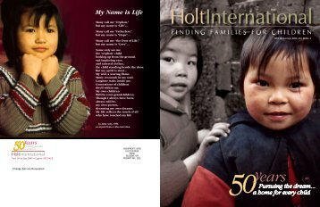 My Name is Life - Holt International