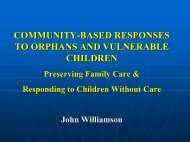 community-based responses to orphans and ... - Holt International