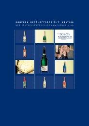 Konzern-Geschäftsbericht 2007/2008 - Sektkellerei Schloss ...