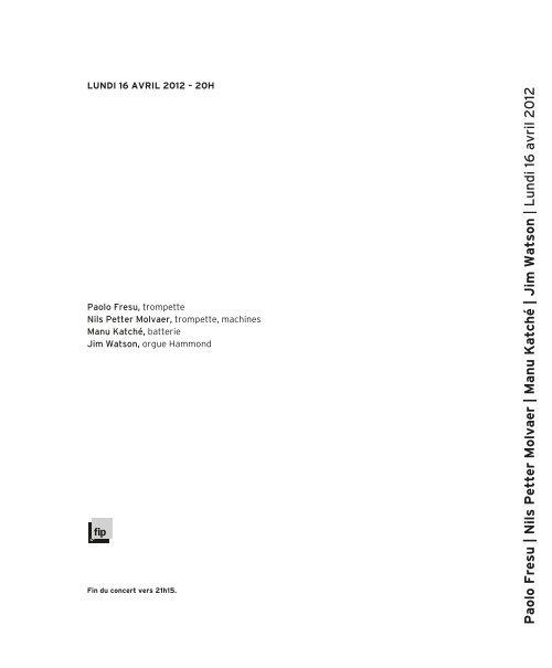 Manu Katché   Jim Watson - Salle Pleyel