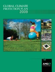 Global Climate Protection Plan - AMD