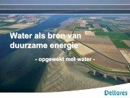 Duurzame energie - Innoveren met water