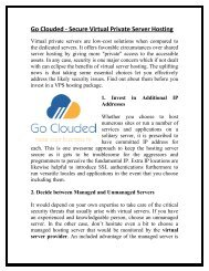 Go Clouded - Secure Virtual Private Server Hosting