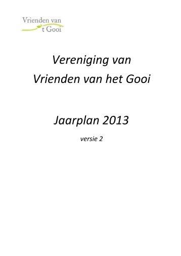 Lees het jaarplan 2013 - Vrienden van het Gooi