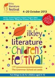 4–20 October 2013 - Ilkley Literature Festival