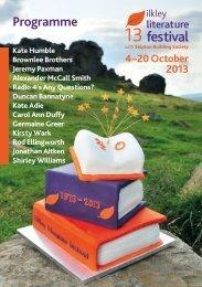 ILF Programme 2013 web - Ilkley Literature Festival