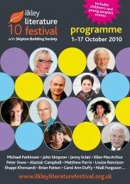 programme - Ilkley Literature Festival