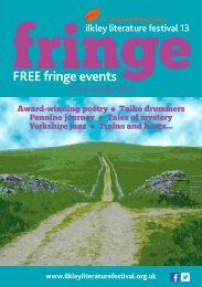 Download the 2013 Fringe Programme. - Ilkley Literature Festival