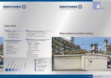 Data sheet Blast resistant portable building - Drehtainer.com
