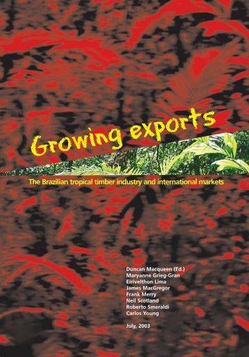 Growing exports - IE – UFRJ