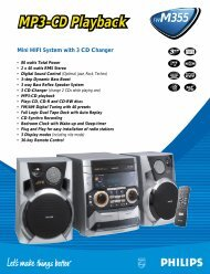 Mini HIFI System with 3 CD Changer - Philips