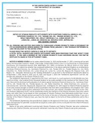 notice of class action settlement and hearing thereon to