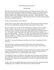 Why Do We Keep the Passover? - Living Church of GOD: Louisiana ...