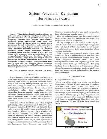 Sistem Pencatatan Kehadiran Berbasis Java Card